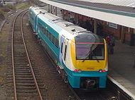Ein Zug von Arriva Trains Wales