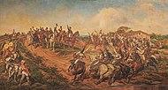 Schilderij van de Braziliaanse Onafhankelijkheidsverklaring, die plaatsvond op 7 september 1822.