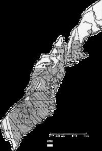 Οι 13 αποικίες το 1775