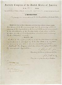 Tekst van de 15e wijziging