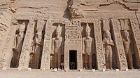 De kleine tempel van Abu Simbel