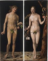 Adam en Eva , door Albrecht Dürer (1507).