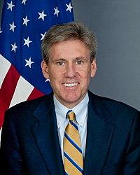 VS ambassadeur Christopher Stevens, eerste zittende VS ambassadeur gedood sinds 1979