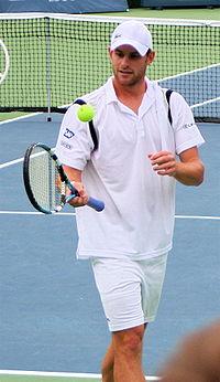 Andy Roddick voor het opdienen