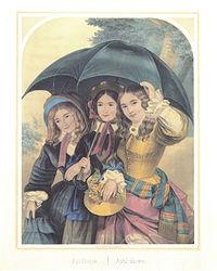 Das Bild zeigt es traditionell als Regen im April in der nördlichen Hemisphäre.