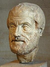 Aristoteles: Marmorkopie einer Bronzebüste von Lysippus, Louvre-Museum.