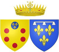 Wapens van Marguerite Louise als Groothertogin van Toscane