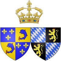 Wapen van Marie Anne Victoire van Beieren als Dauphine van Frankrijk.