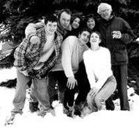 Sanders s rodinou v roce 1993