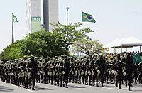 Een legerparade ter gelegenheid van de Braziliaanse onafhankelijkheidsdag op 7 september.