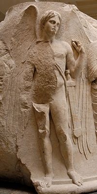 Thanatos God van de dood in de oude Griekse mythologie.