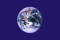 Vorgeschlagene Flagge für den Earth Day am 22. April.