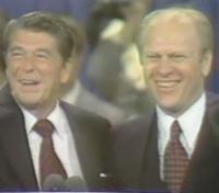 Reagan a prezident Ford v poslední den republikánského sjezdu v roce 1976