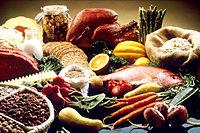Verschiedene Arten von Lebensmitteln.