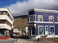 Ísafjörður stadscentrum.