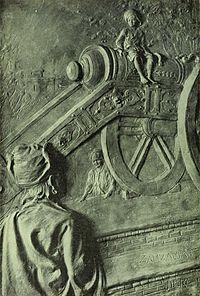 Ким на вершине Зам-Замы, иллюстрация к роману 1901 года.
