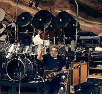 Grateful Dead'i liikmed esinesid 11. augustil 1987 Red Rocks Amphitheateris Colorados.