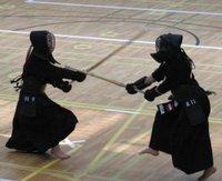 Een Kendo gevecht (Europees Kampioenschap 2005).
