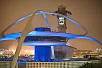 Das Themengebäude am Internationalen Flughafen von Los Angeles