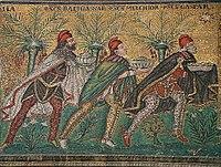 De Drie Koningen, of Wijzen, die worden herdacht op 6 januari in het westerse christendom en op 19 januari in het oosterse christendom.