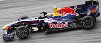 Een 2010 Formule 1 auto van de Red Bull Racing