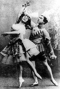 Nijinsky en Anna Pavlova in Le Pavillon d'Armide