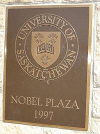Nobel Plaza, Universiteit van Saskatchewan