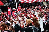 Viering van de Dag van de Grondwet in Noorwegen op 17 mei.