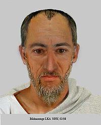 Eine in Deutschland angefertigte Gesichtskomposition des Apostels Paulus