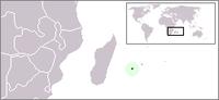 Réunion (východně od Madagaskaru a Afriky)
