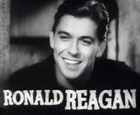 Reagan v přívěsu Cowboy from Brooklyn, 1938
