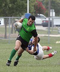 Een duikuitrusting in rugbybond