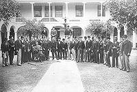 Rechtenstudenten van de Nationale Universiteit van San Marcos, in 1896.