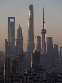 SWFC ter stolpi Jinmao, Shanghai in Oriental Pearl
