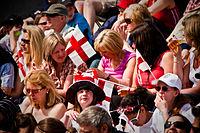 Sankt-Georgs-Tag am 23. April auf dem Londoner Trafalgar Square.