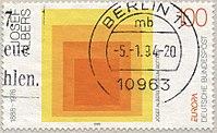 Josef Albers op een postzegel.