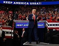 Troef bij zijn herverkiezingscampagne in Orlando, Florida, juni 2019.