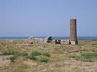 Ruïnes op de plaats van de oude stad Van.