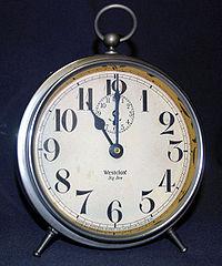 Een typische analoge 12-uursklok