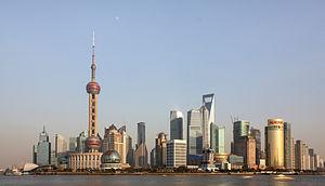 Obzorje Lujiazui v Šanghaju