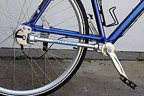 Een fiets met cardanaandrijving.