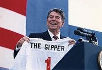 Reagan v rámci své předvolební kampaně v Endicottu ve státě New York