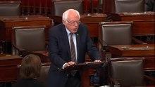Přehrávání médií Sanders při projevu po střelbě na baseballovém hřišti Kongresu v roce 2017 na Kapitolu, červen 2017.