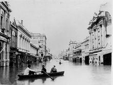Brisbane in de overstroming van 1893