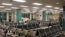 Toegang tot de gates op de regionale luchthaven van Asheville, Verenigde Staten
