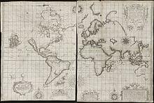 Карта Земли, составленная в 1655 году
