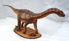Sculptuur van Adamantisaurus