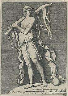 Adamo Ghisi: Allegorie op de slavernij, ets, 1573.