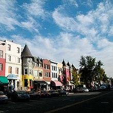 Kleurrijke gebouwen in Adams Morgan