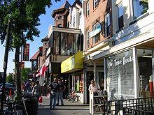 Winkels gelegen langs 18th Street, NW in Adams Morgan.